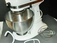 Nice Kitchen Aid White Counter top Mixer. 250 watts ...