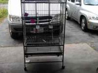 I have for sale a large bird cage with wheels. This