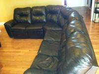 I have a very nice leather sectional for sale. It has a
