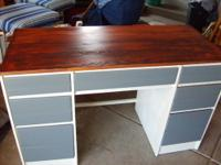 freshly redone. Gray drawers, with heirloom white
