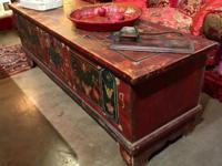 Nice Long Painted and Signed Blanket Chest Dated 1939