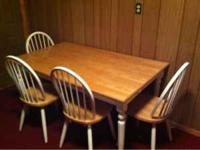 Nice matching dining set. $125. If interested text or