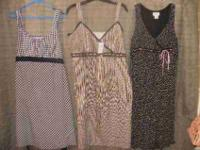 The maternity dresses are size large. The maternity