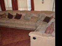 This multi-sectional sofa with the recliners is perfect