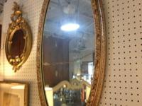 Nice Oval Gilt Mirror. Great appearance anywhere. 40' x