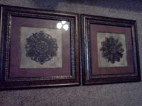 2 nice matching pictures. Great condition. 2 x 2 in