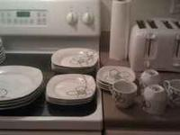 nice gibson brand plate/dinner set email or txt
