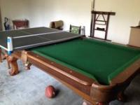 Very nice pool table Excellent condition. The price is