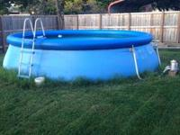 Anyone in need of a nice refreshing pool? 18 x 48 with