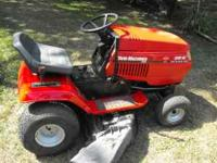 NICE YARDMACHINE 46 INCH CUT 20 HP MOTOR RUNS AND CUTS