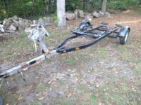 Nice single axle boat trailer, winch location can be