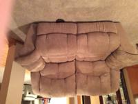 Nice barely worn adult housed sand color lazy boy couch