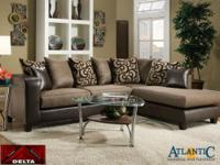This sectional functions an ideal facing chaise and a