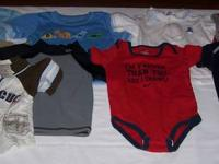 FOR SALE: Selection of baby boys shirts and onesies.