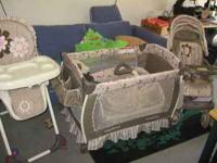 SET INCLUDES PACK AND PLAY,STROLLER,HIGH CHAIR,CAR SEAT