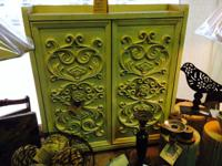 We have a Small Carved Wooden Cabinet in our shop.