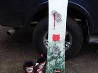 A 46 Special Avalanche Snowboard and Size 9 Women Van