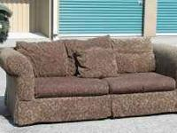 Nice Sofa with Parisian Style design. $125 obo This