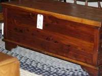 We have a beautiful footed solid cedar blanket chest