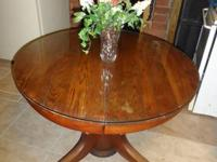 "for sale Pedestal 42"" Round table with glass top for"
