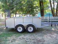 Nice heavy duty utility trailer, dual axle. 5' x 10'