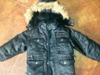 I have a black Rocawear puff coat with detachable hood
