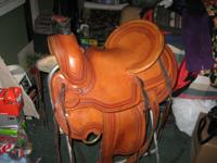 "only $550. 16"" deep seat. full Qtr horse tree, cleaned"
