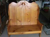 Real nice solid wood deacons bench. Comes from smoke
