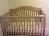 Firm nice wood crib it has the safty locks on n ready