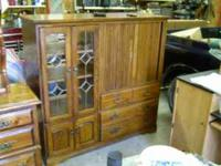 Nice wood entertainment center Made out of real wood