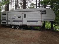 HERE FOR SALE IS OUR NICE 5TH WHEEL CAMPER. ITS A