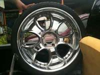 "Nice set of 4: 22"" Chrome ""Victory"" Truck Rims-please"