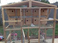 Huge birds cage. perfect for reproducing parakeets or