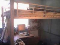 Hello, we have a nice full size loft bed for sale. It