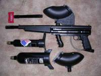 slightly used nice tippmann paintball marker and