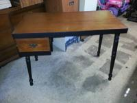 For Sale Nice Wood Desk Wood stained top and black
