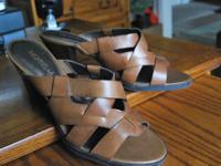 NICKELS Design, Weaved Leather Women's Mule Style Shoes