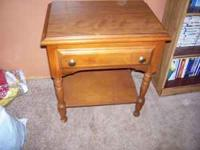 I have a small nightstand for sale for $20.00 or best