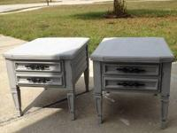 I have just refurbished 2 side tables. I have painted