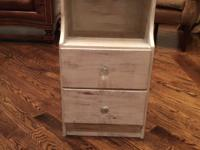 Night stand shabby chic  26 inches H by 14 1/4  inches