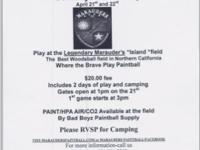 NIGHT GAME AT THE FAMOUS MARAUDERS PAINTBALL FIELD