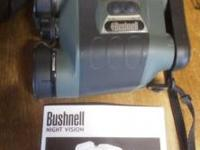 Bushnell Night Vision binoculars w/carrying case and