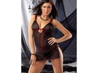 NIGHTDRESS W/THONG---2 PC. Mesh nightdress with