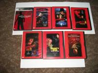 This is a set of 7 Nightmare on Elm Street DVDs,