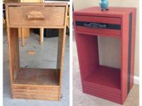 "Night stand/ side table with a drawer stands 26"" high"