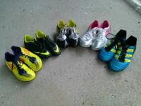 I have 5 pairs of kids soccer cleats all are in GREAT