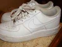 Nike Air Force 1 Solid White Size 8 Women's Barely