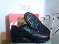 Brand New black leather Air Max 90 Men's athletic