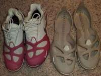 white Nike Air Shoes size 8 with interchangeable