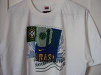 Nike Brasil T Shirt White, New with Tag. It is in a